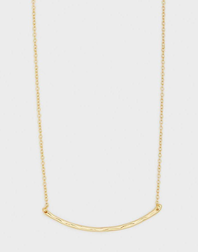 Taner Bar Small Necklace - Gold