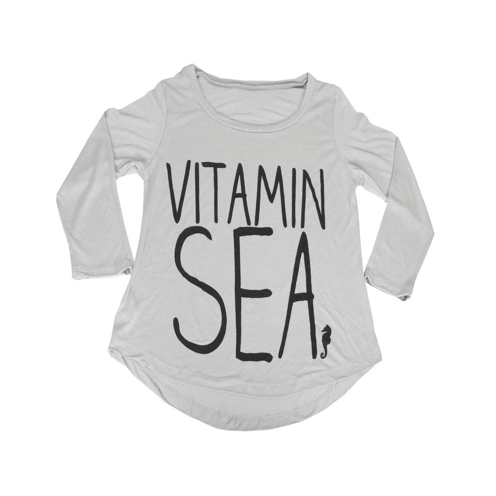 Consurfvation Long Sleeve Flowy Loose Fit Tee - Vitamin Sea