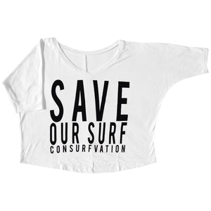 Consurfvation Save Our Surf Crop Top