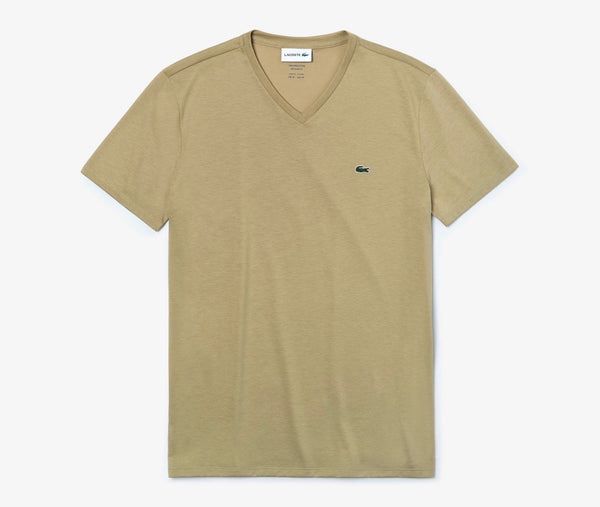 Lacoste V Neck beige tee shirts