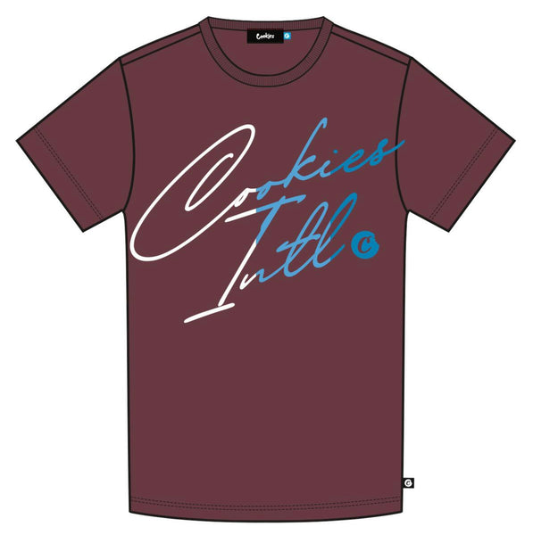 COOKIES FLIP THE SCRIPT MAROON TEE
