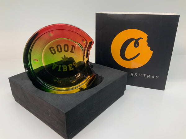 COOKIES C BITE GOOD VIBES GLASS ASHTRAY