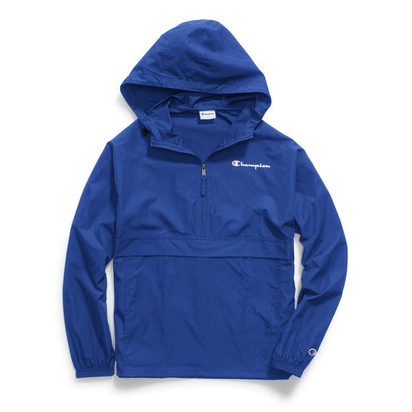 CHAMPION MENS PACKABLE ROYAL BLUE JACKET