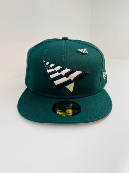 PAPER PLANES FITTED - FIELD GREEN