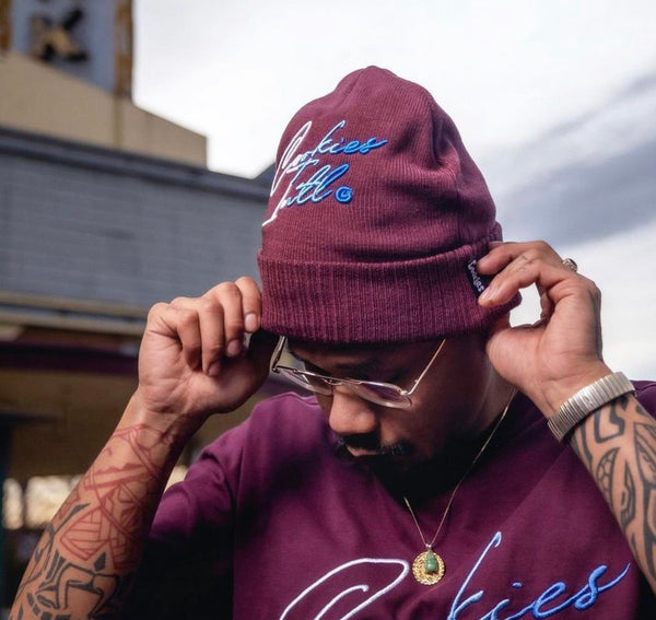 COOKIES FLIP THE SCRIPT BURGUNDY BEANIE