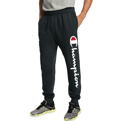 CHAMPIONS MEN FLEECE JOGGERS W/ SCRIPT LOGO