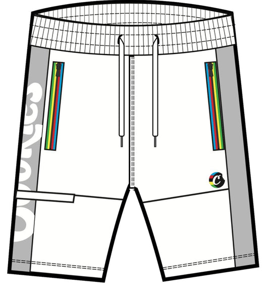 COOKIES TOUR DE FIRE MULTI COLOR SHORTS WHT