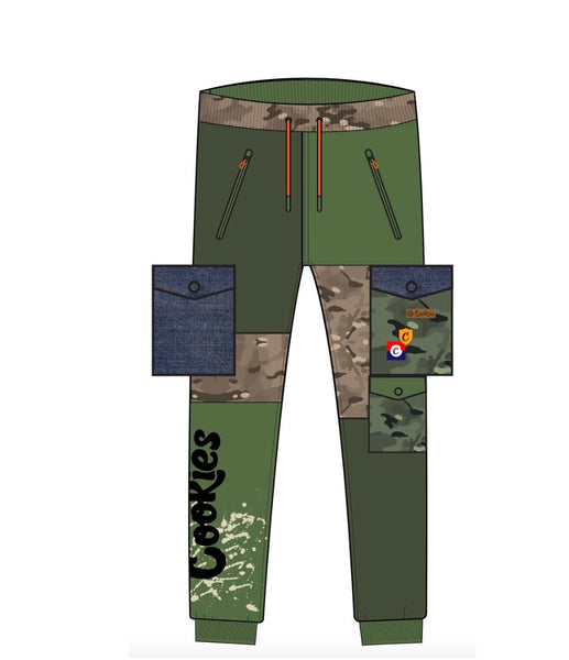 COOKIES BACKCOUNTRY FLEECE SWEATPANTS - OLIVE
