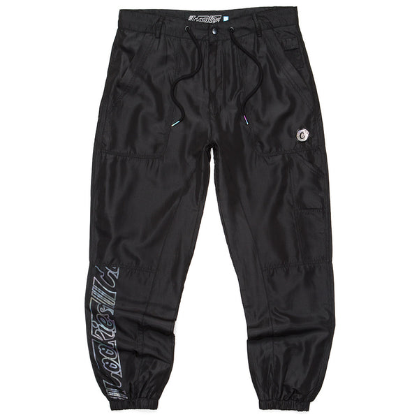 COOKIES HOLOGRAM NYLON PANTS  BLK
