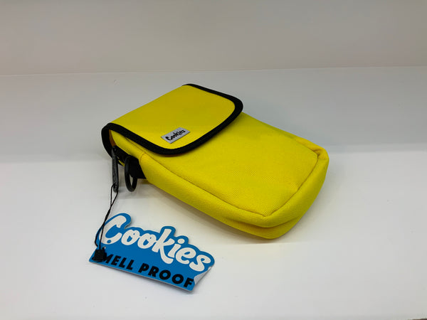 COOKIES UTILITY POCKET SMELL PROOF CANVAS NYLON BAG YELLOW