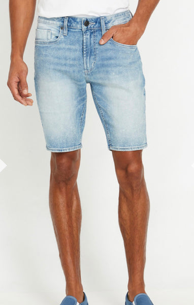 BUFFALO WHISKERED AND SANDED DENIM SHORTS