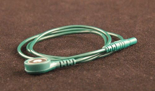 "Green Electrode Lead for Disposable Snap Electrodes (24"")"
