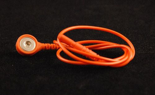 "Orange Electrode Lead for Disposable Snap Electrodes (24"")"