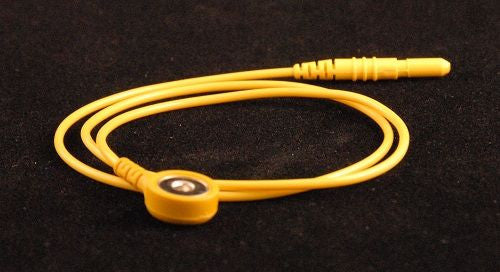 "Yellow Electrode Lead for Disposable Snap Electrodes (24"")"