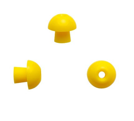 Sanibel 12mm Yellow Mushroom Eartips (100)