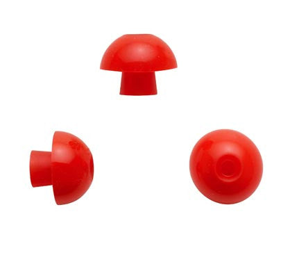 Sanibel 14mm Red Mushroom Eartips (100)