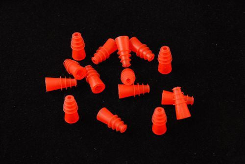 Maico 3mm - 6mm Red Flanged Infant Eartips (100)