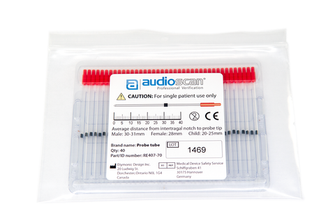 Audioscan probe tubes