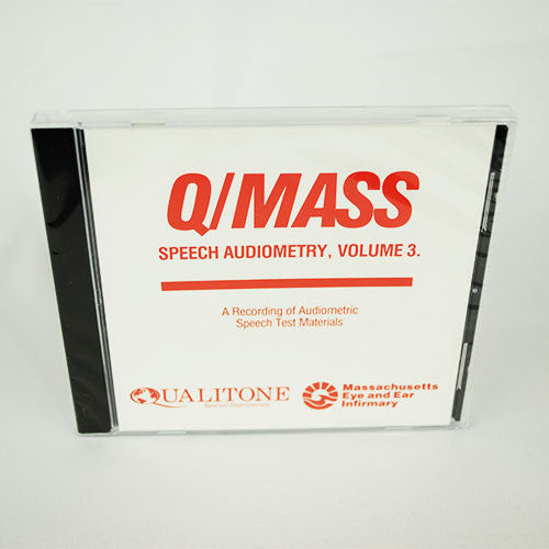 Q/Mass Speech Audiometry Volume 3 CD