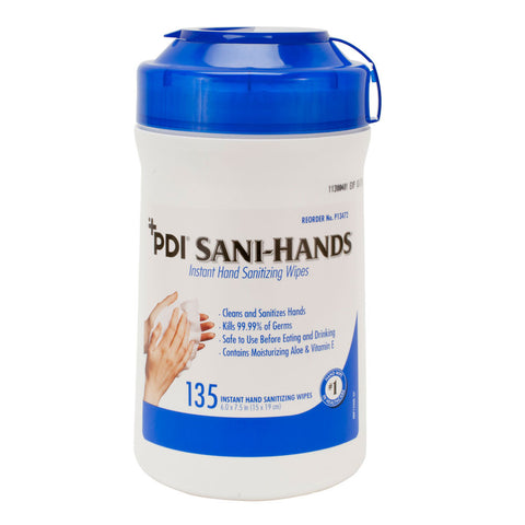 PDI-Sani-Hands; 135 Wipes/Canister