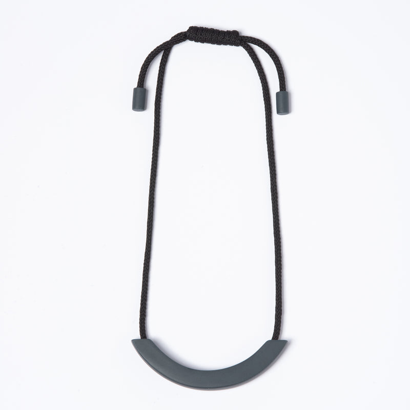 Grey Arc Necklace - Black