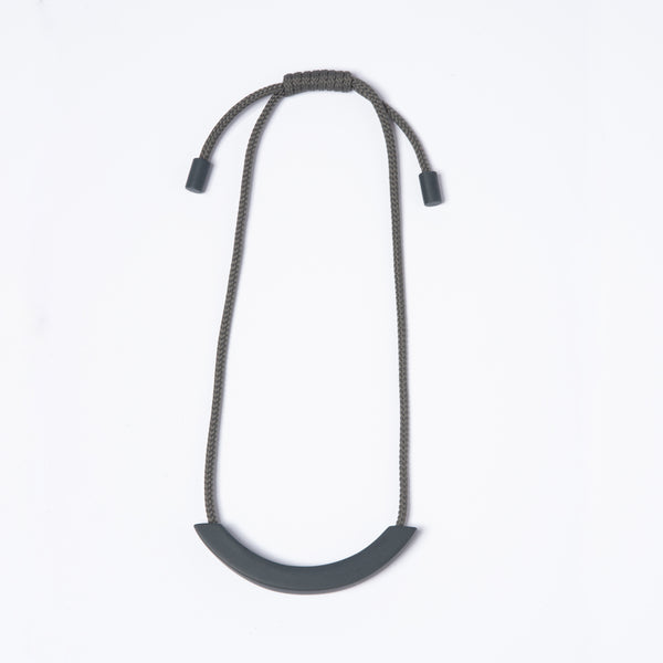 Grey Arc Grey Necklace
