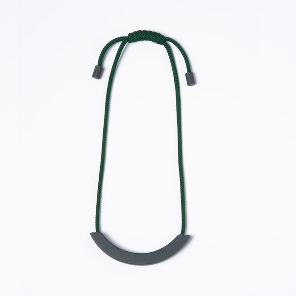 Grey Arc Necklace - Khaki