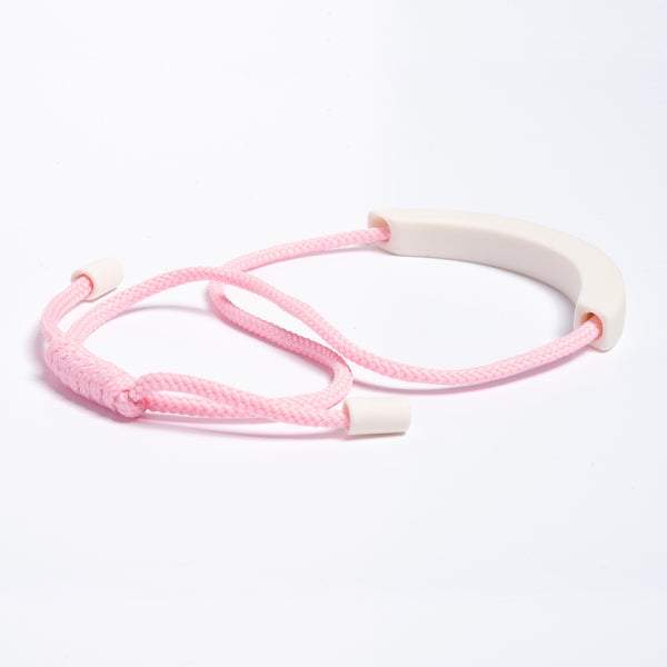 White Arc Necklace - Light Pink