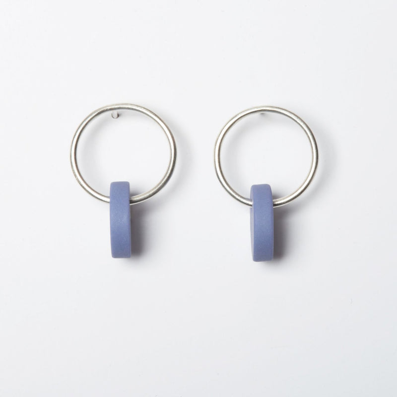 Small Circle Earrings - Lilac