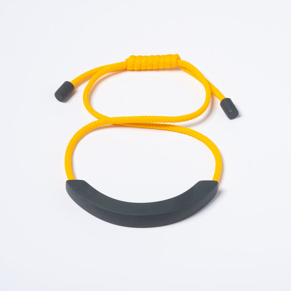 Grey Arc Necklace - Yellow