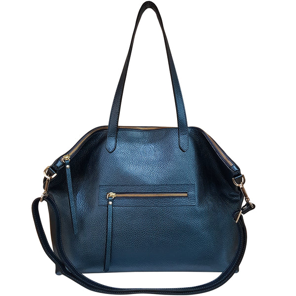 Calton Bag - Metallic Navy