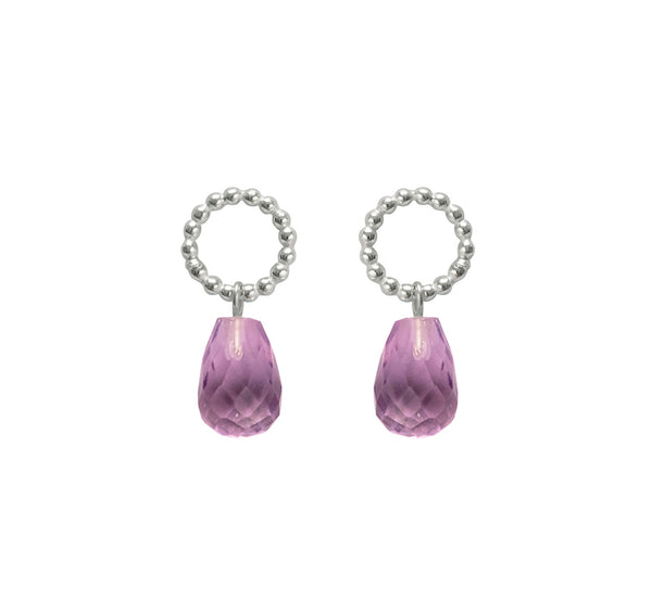Beaded Drops - Amethyst