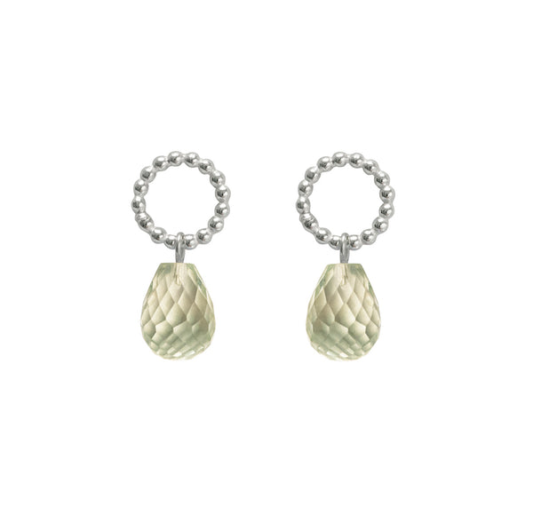 Beaded Drops - Green Amethyst