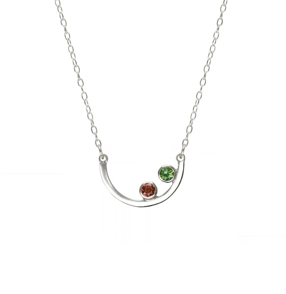 Aura Necklace - Pink and Green Tourmaline