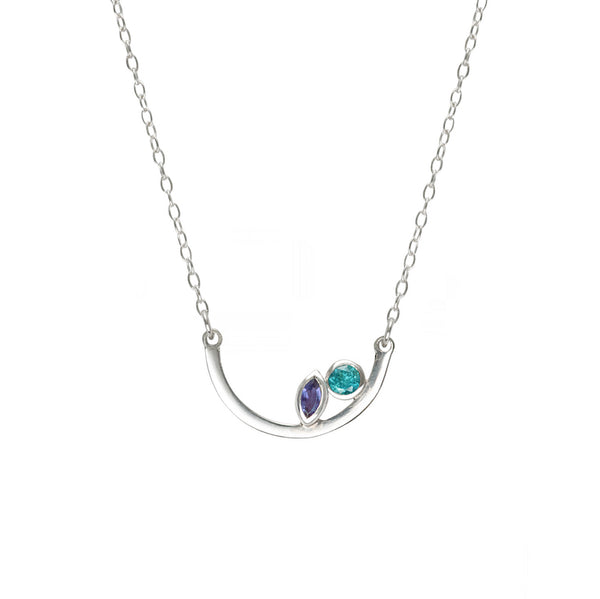 Aura Necklace - Iolite and Tourmaline