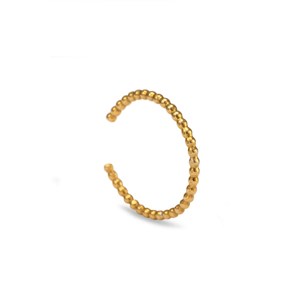 Beaded Anti-Helix Ear Cuff - Gold