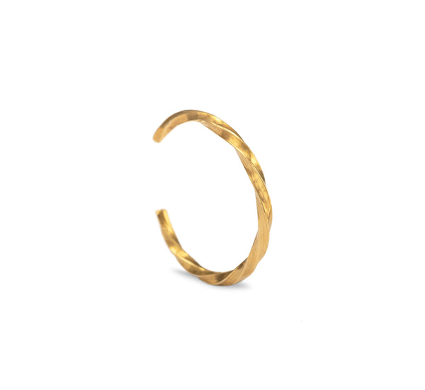 Twisted Anti-Helix Ear Cuff - Gold
