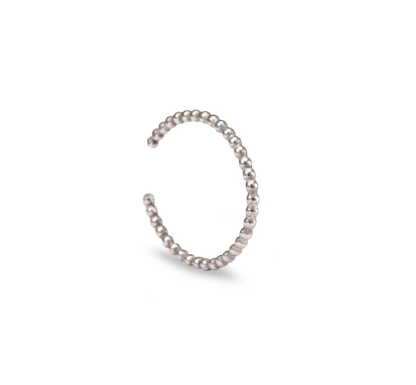 Beaded Anti-Helix Ear Cuff - Silver