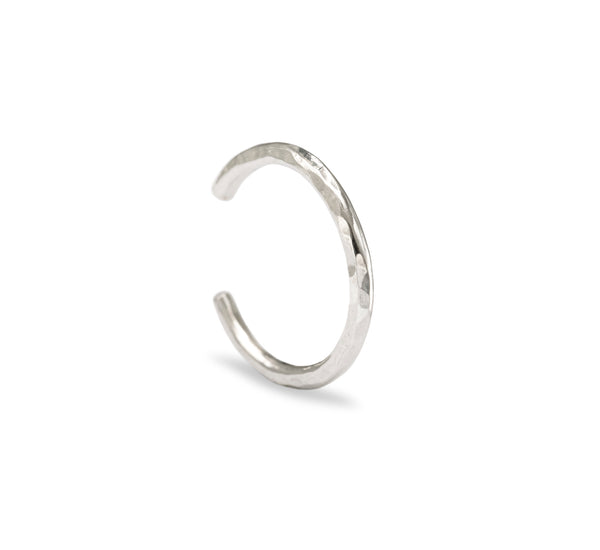 Textured Anti-Helix Ear Cuff - Silver