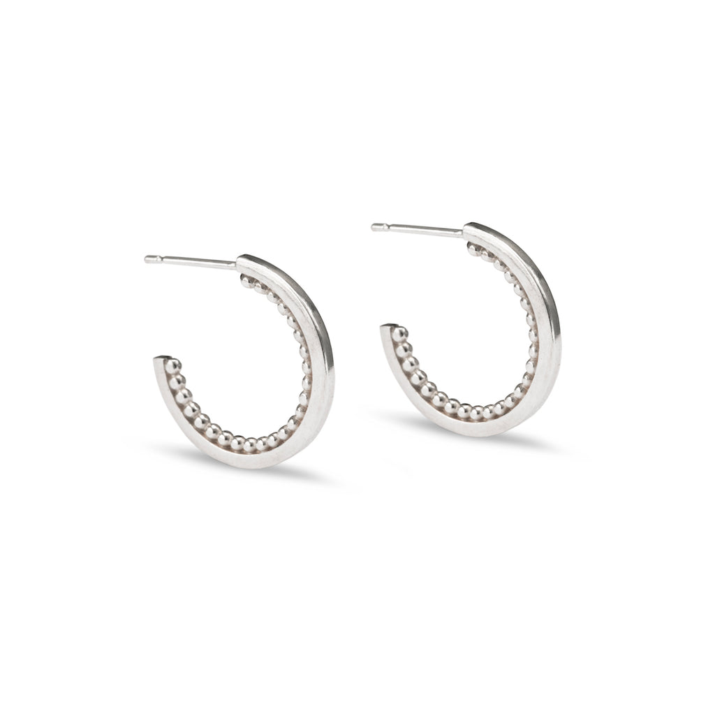 Meridian Hoop Earrings - Silver