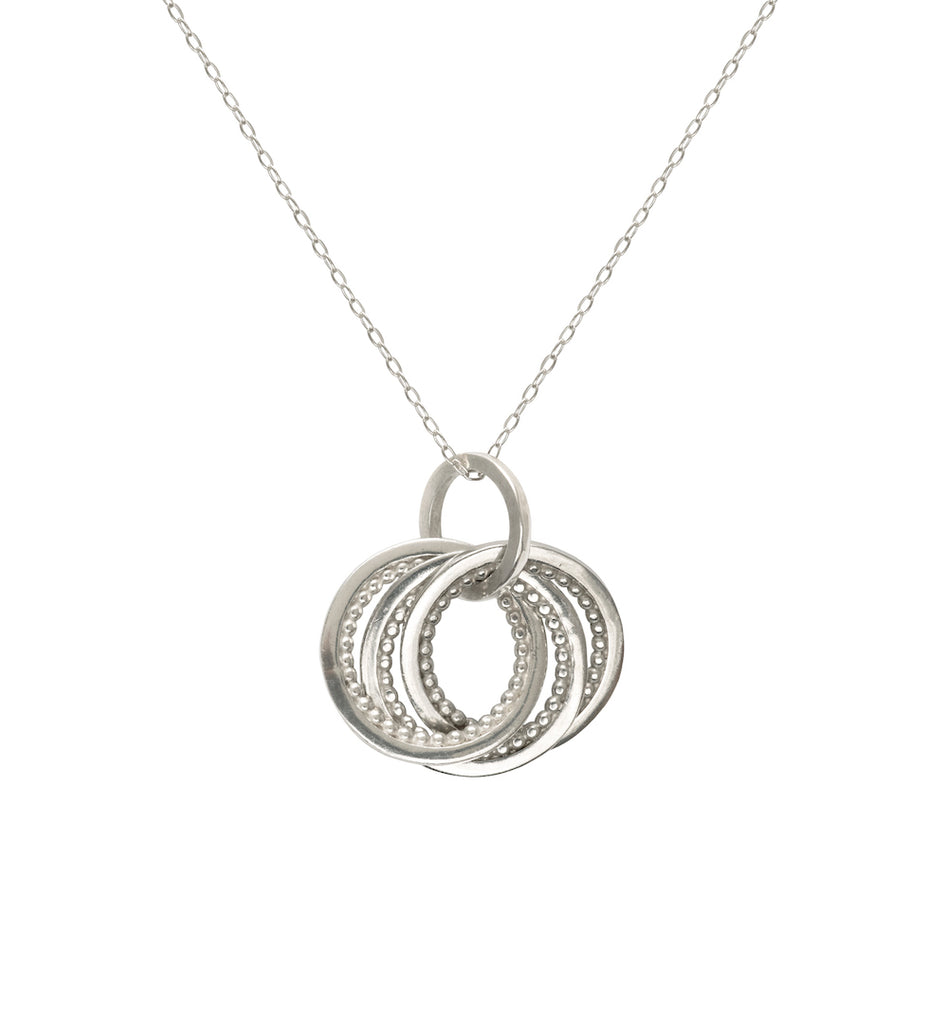 Meridian Intertwining Necklace - Silver