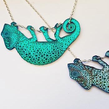 Chameleon Necklace - Green