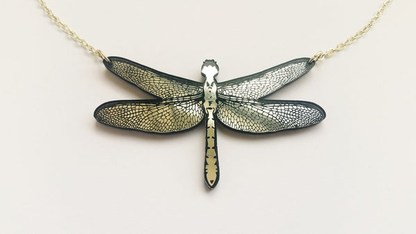 Dragonfly Necklace - Silver