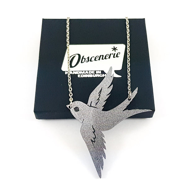Glitter Swallow Necklace