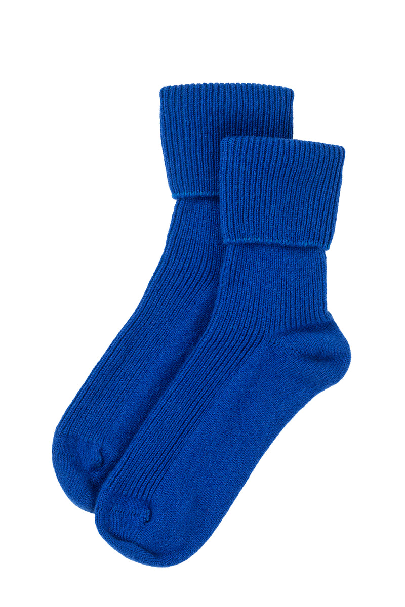 Bed Socks - Electric Blue