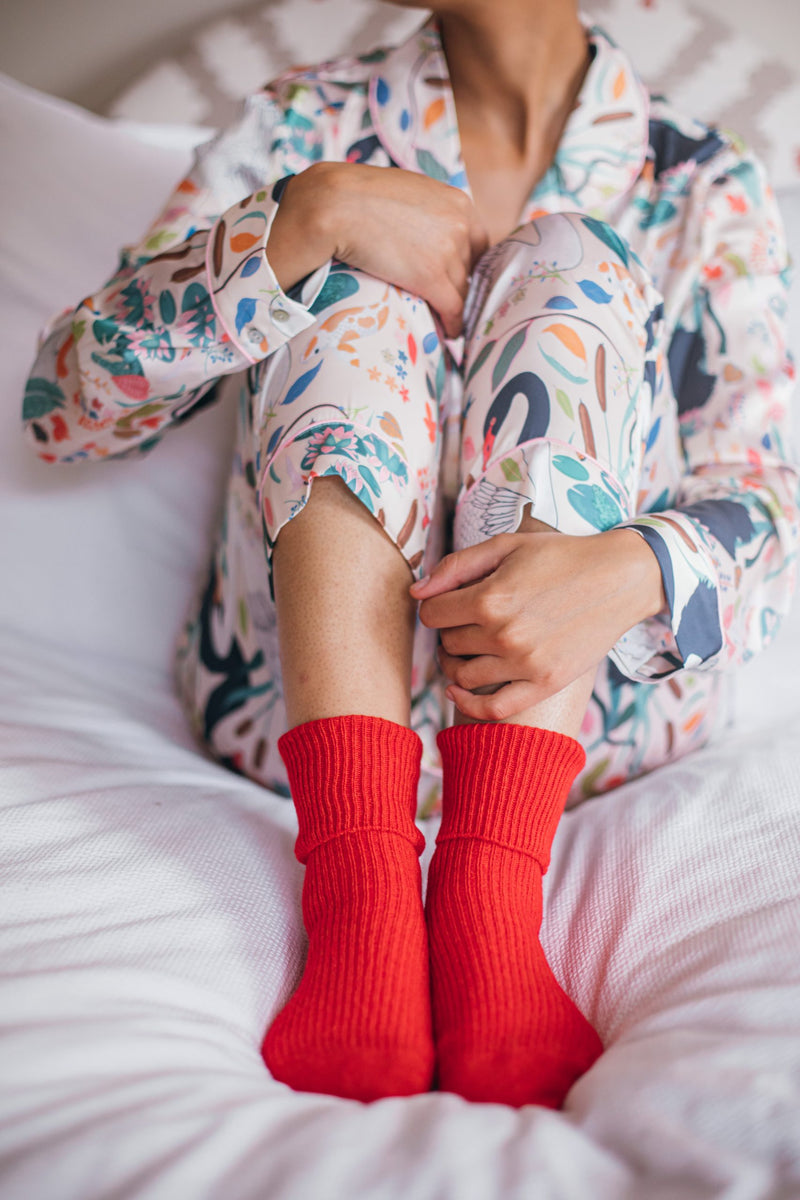 Bed Socks - Regal Red