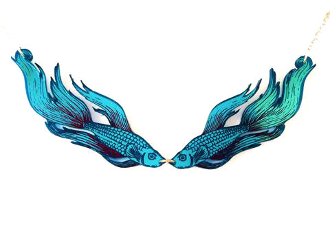 Siamese Fighting Fish Necklace