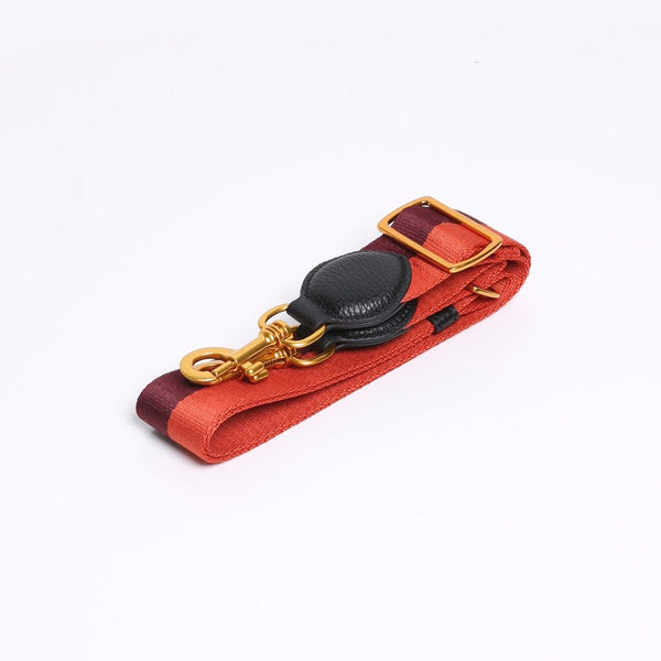 Strap Orange/Burgundy - Gold