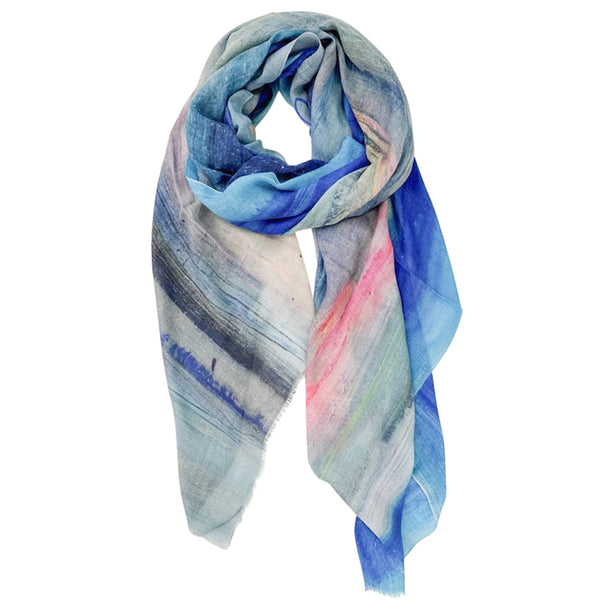 Layered Tide Scape Scarf