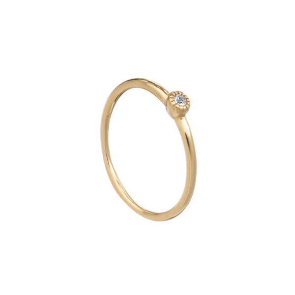 Stacking Ring - White Topaz